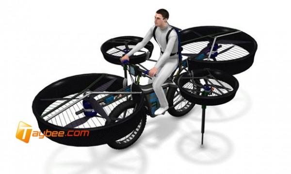 ابتكار دراجة هوائية طائرة !!
